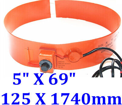 1740mm X 250mm 2000Watts 120V Drum Tank Fuel Heater with Adjustable Thermostat