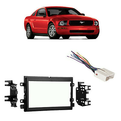 mustang radio wiring harness image fits ford f 150 2007 2008 double din stereo harness radio install on 2005 mustang radio