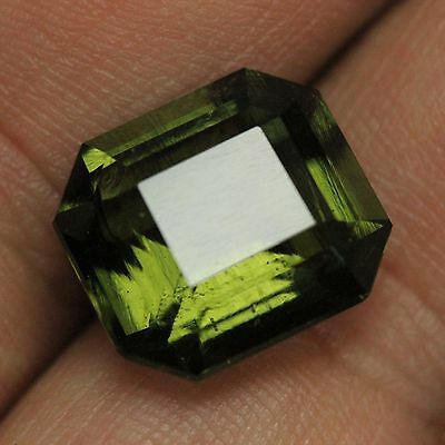 GIA certified natural loose untreated Octagonal cut Green Moldavite 9.34ct VIDEO