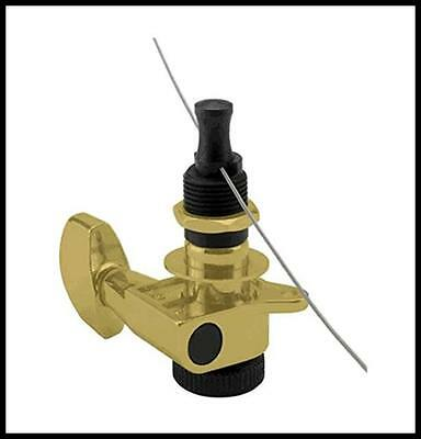 Planet Waves Auto-Trim Tuning Machines, 6 In-Line setup, Gold set of 6
