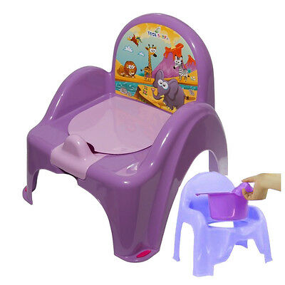 Purple Potty Training Chair For Toddlers Easy To Clean Removable Animals Baby