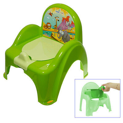 Green Potty Training Chair For Toddlers Easy To Clean Removable Animals Baby
