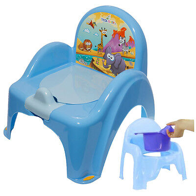 Blue Potty Training Chair For Toddlers Easy To Clean Removable Animals Baby