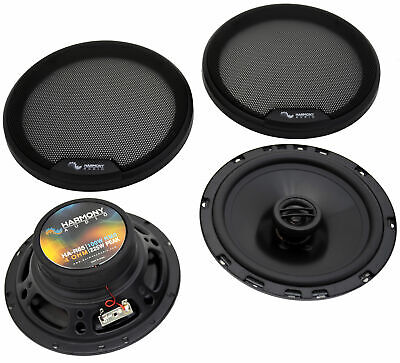 """Harmony Audio HA-65 Car Stereo Rhythm 6.5"""" Replacement 300W Speakers & Grills"""