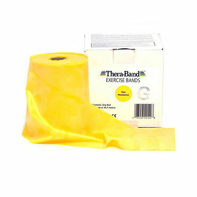 THERA-BAND ® 2,0 m gelb Gymnastikband Original Theraband von der Rolle
