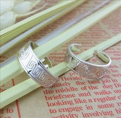 X1 Gorgeous 925 Sterling Silver Layered Aztec Toe Ring