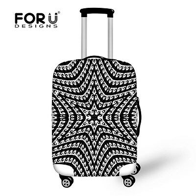 "Black&White Travel Luggage Suitcase Case Cover Elastic Bag Dust-Proof 20"" to 30"""