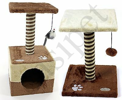 2pcs Cat Tree Scratcher Scratch Post Kitten Toy Scratching Activity Centre