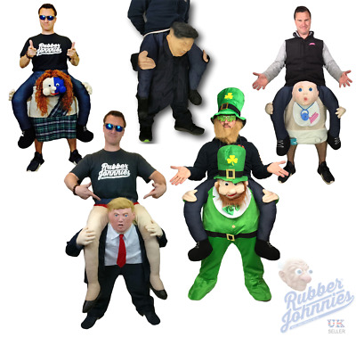 Piggy Back Ride On Leprechaun Baby Scot Trump Mascot Fancy Dress Costume Stag