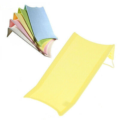 Baby Bath Pad Towelling Safety Support Seat Newborn Mat Easy Bathing Yellow