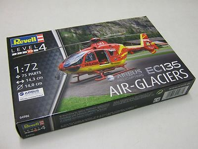 Revell Model Kit - EC135 Air-Glaciers Helicopter - 1:72 Scale - 04986 - New