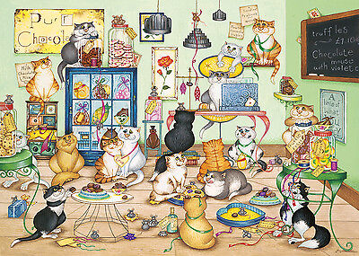 GIBSONS JIGSAW PUZZLE 1000 PIECES Purrfect Chocolate by Linda Jane Smith G6164