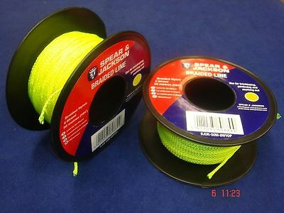 Spear & Jackson Green Braided Nylon Bricklayers Line 2 x 50 Metre Spools UK50M8G