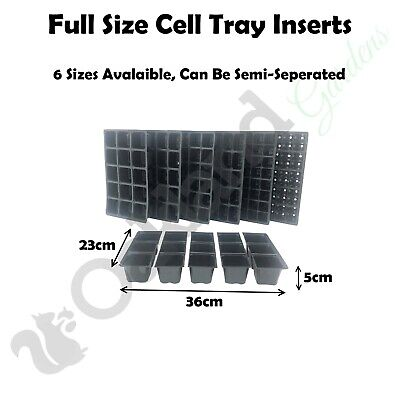 Seed Tray Inserts Full Size For Gravel Trays Propagator Cell Plug Trays Bedding