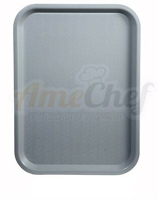 New Winco FFT-1418E, 14x18-Inch Gray Plastic Fast Food Tray