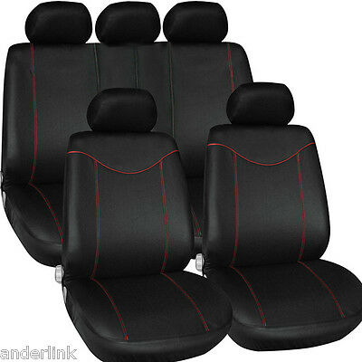 New 1Set Car Seat Cover Auto Interior Accessories Universal Cushion Black + Red