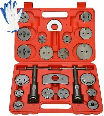 Universal Disc Brake Caliper Piston Pad Auto Wind Back Tool Kit 21pcsFree Ship