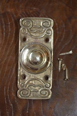 Edwardian style brass front doorbell push button bell pusher door bell Z2