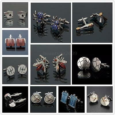 Stainless Steel Vintage Cufflinks Men's Wedding Party Business Shirt Cuff Links