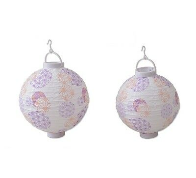 Japanese Paper Lantern S and L set LED White Lampshade Chochin Party Decor