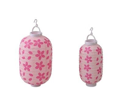 Japanese Paper Lantern Long S, L set Pink Sakura Lampshade Chochin Party Decor