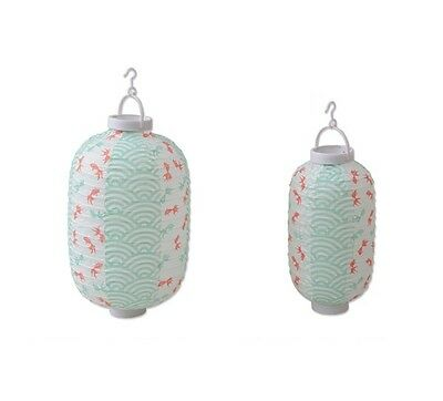 Japanese Paper Lantern Long S L set Green Goldfish Lampshade Chochin Party Decor