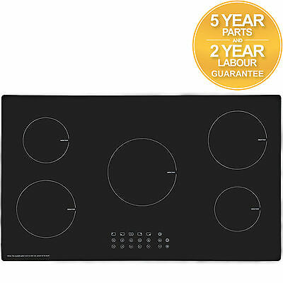 SIA IND901BL 90cm Touch Control 5 Zone Black Electric Induction Hob | Child Lock