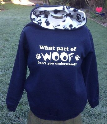 What Part Of Woof Don't You Understand     hoodies, sweatshirt  navy/paw print