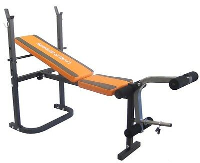 Adjustable Folding Incline Weight Bench with Leg Unit