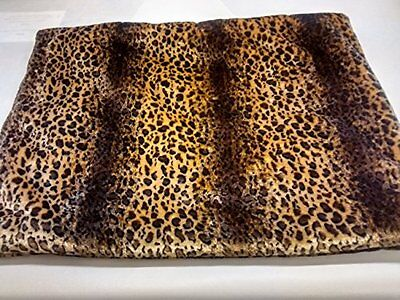 KosiPet® Leopard Faux Fur Self Heating Thermal Luxury Pet Dog Cat Bed Mat, Pad,