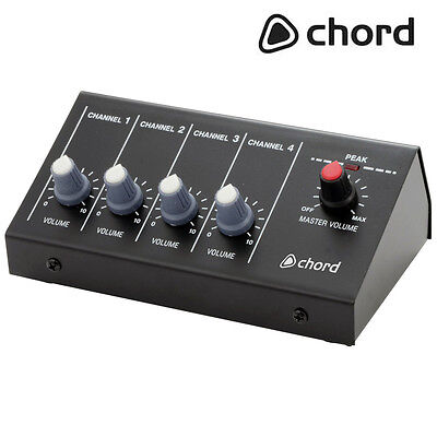 Portable Lightweight 4 Channel Microphone DJ PA Mixer with Jack Inputs