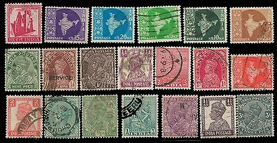 INDIA Stamps GREAT LOT X 20 Obl.