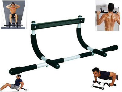 Gym Fitness Bar Chin Up Pull Up Strength Situp Dips Workout Exercise Door Bars