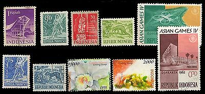Indonesia Stamps GREAT LOT X 10 Obl.