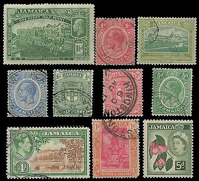 JAMAICA Stamps GREAT LOT X 10 Obl.