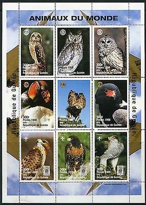Guinea  Rotary International Lions Club & Boy Scout Animals Of The World  Sheet