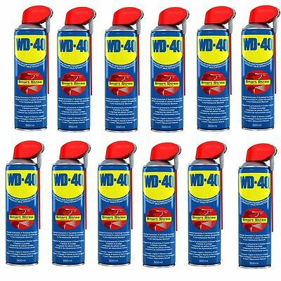 12 x WD-40 Vielzweck-Spray 500 ml Smart-Straw