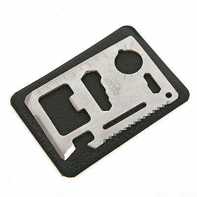 11in1 Emergency Survival Tool Card Multi-function Can Opener Stainless Steel