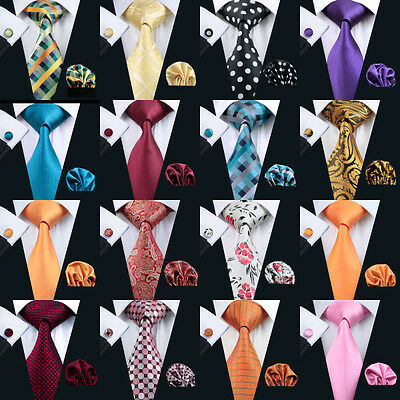 New Hot Selling Plain Mens Silk Tie Wedding Tie Floral Jacquard Woven Tie Set