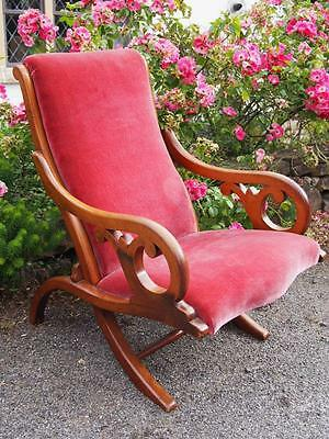 Simply Stunning Antique Victorian Mahogany Upholstered Armchair/Chair Scroll Arm