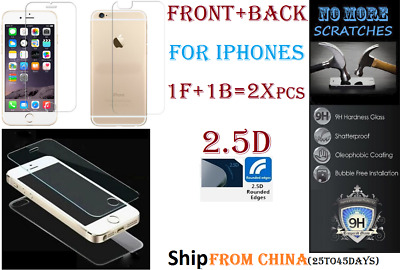 FULL BODY Front Back = 2X 2.5D 9H Tempered Glass Screen Protector iphone Vitre 2
