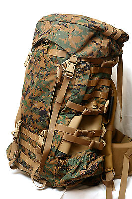 New Gen 2 USMC Digital MARPAT ILBE Main Pack Complete W Hip Belt/Lid/Radio Pouch