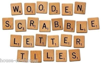 100 Wooden Scrabble Tiles Set Letters Numbers For Crafts Alphabet Game Wood