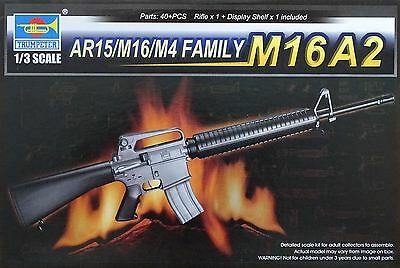 Trumpeter Model Kit - AR15/M16/M4 Series - M16A2 - 1:3 Scale - 01907 - New