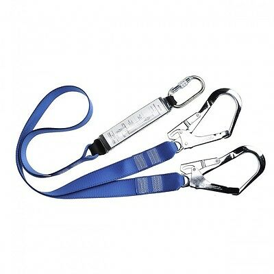 Portwest FP51 Double Ended Webbing Fall Arrest Lanyard Scaffolder Hook Karabiner