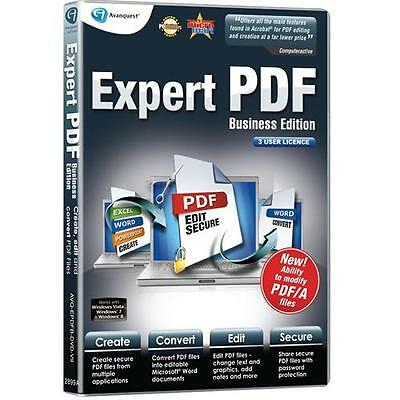 Expert PDF 9 Business Edition 3 User PC Software Convert Create PDFs Documents