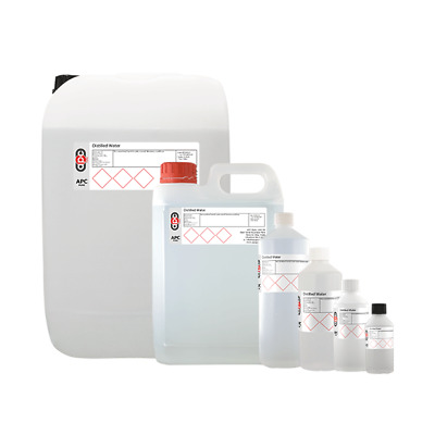 Distilled Water 99.99% Ultrapure CHOOSE your size 50ml-25 Litre **High Quality**