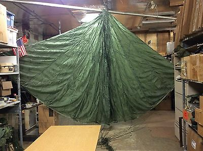 Used Military T-10 Reserve Parachute Usgi 23Ft Lines Intact Boat Anchor