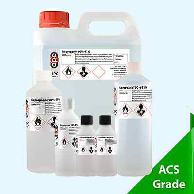 Rubbing Alcohol 91% (Isopropanol 91%) - Choose your Pack Size 50ml - 2 Litre