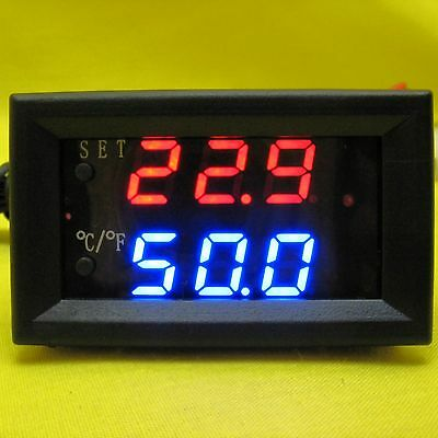 Temperature Alarm Meter 5V dc Digital Panel Settable Thermometer Computer CPU